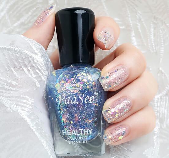 Peel off glitter nail polish